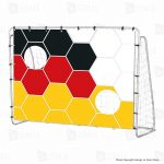 Xtrem-60126-MT-Football-Goal-with-Germany-Goal-Wall-213-x-152-x-76-Patterned-284036184854