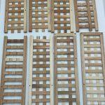 Relaxdays-10021315-Wall-Shelf-Five-Compartments-50-x-50-x-15-cm-Walnut-Wood-284011982567